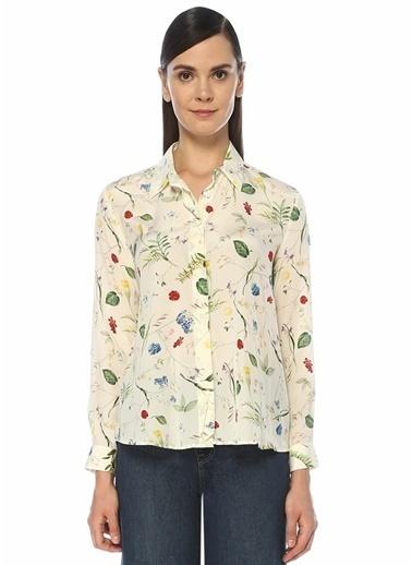 Beymen Club Beymen Club  Çiçek Desenli İpek Gömlek 101447234 Ekru